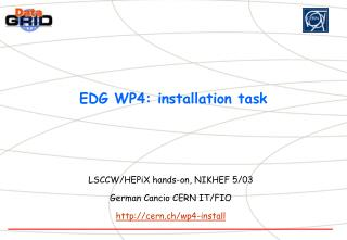 EDG WP4: installation task