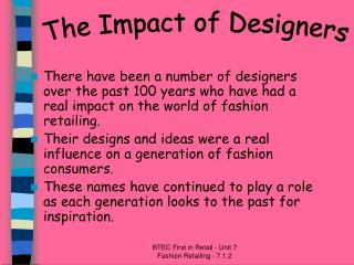 The Impact of Designers