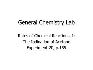 General Chemistry Lab