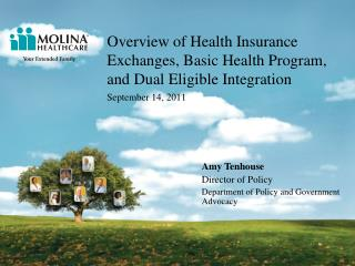 Overview of Health Insurance Exchanges, Basic Health Program, and Dual Eligible Integration