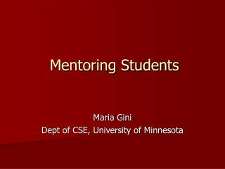Mentoring Students