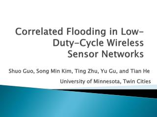 Correlated Flooding in Low-Duty-Cycle Wireless Sensor Networks