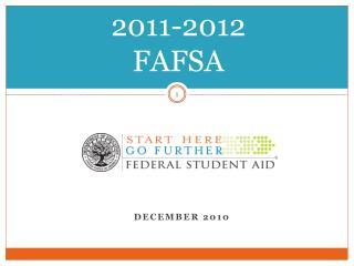 2011-2012  FAFSA