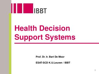 Health Decision Support Systems