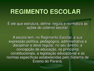 REGIMENTO ESCOLAR