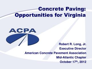Concrete Paving:  Opportunities for Virginia