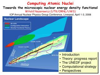 Computing Atomic Nuclei Towards the microscopic nuclear energy density functional Witold Nazarewicz (UTK/ORNL/UWS)