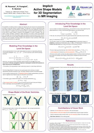 Implicit  Active Shape Models  for 3D Segmentation  in MR Imaging