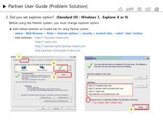 ▶  Partner User Guide (Problem Solution)
