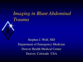 Imaging in Blunt Abdominal Trauma