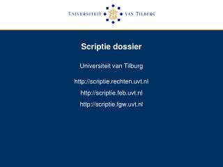 Scriptie dossier