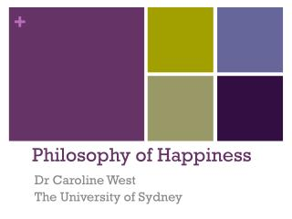 Philosophy of Happiness