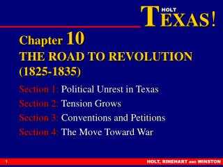 Chapter  10 THE ROAD TO REVOLUTION (1825-1835)