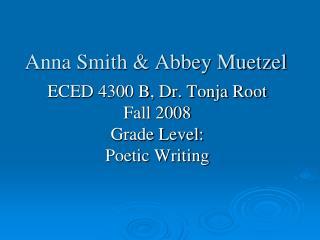 Anna Smith & Abbey Muetzel