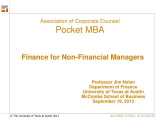 Association of Corporate Counsel Pocket MBA
