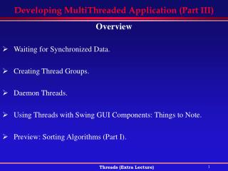 Developing MultiThreaded Application (Part III)