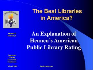 The Best Libraries in America?