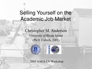 Selling Yourself on the Academic Job Market
