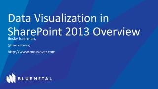Data Visualization in SharePoint 2013 Overview