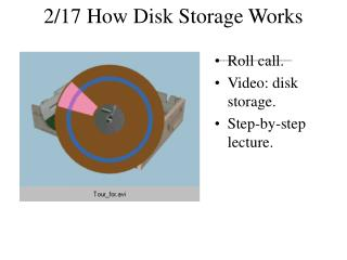 2/17 How Disk Storage Works