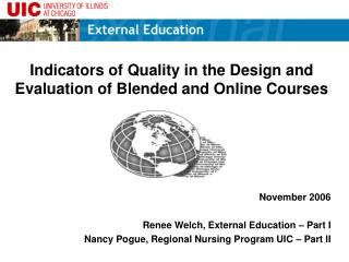 Indicators of Quality in the Design and Evaluation of Blended and Online Courses
