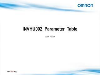 INVHU002_Parameter_Table 2008. Január