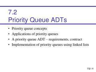7.2 Priority Queue ADTs