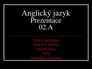 Anglický jazyk Prezentace 02.A