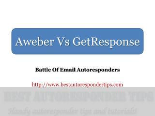 Aweber Vs GetResponse: A Comparison of Autoresponder Feature