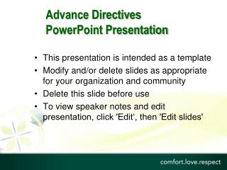 Advance Directives  PowerPoint Presentation