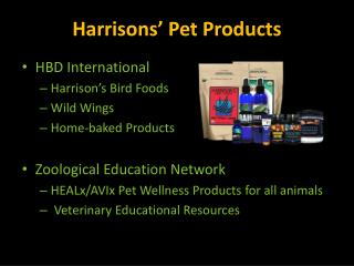 Harrisons' Pet Products