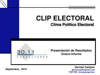 CLIP ELECTORAL Clima Político Electoral