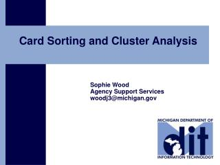 Card Sorting and Cluster Analysis