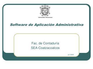Software de Aplicación Administrativa
