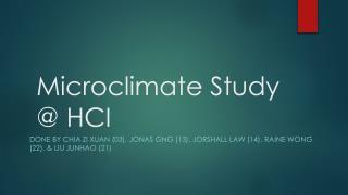Microclimate Study @ HCI