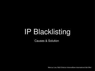 IP Blacklisting