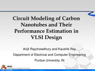 Circuit Modeling of Carbon Nanotubes and Their Performance Estimation in VLSI Design