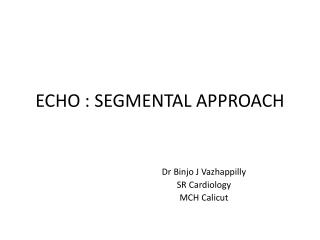 ECHO : SEGMENTAL APPROACH