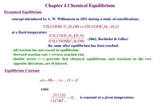 Chapter 4 Chemical Equilibrium