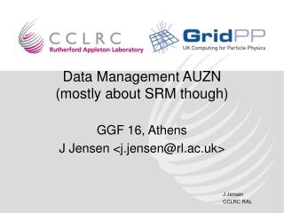 Data Management AUZN (mostly about SRM though)