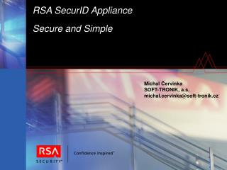 PPT - RSA SecurID Appliance Secure and Simple PowerPoint