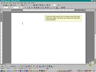 Using Word, type in a simple instruction for the user to follow