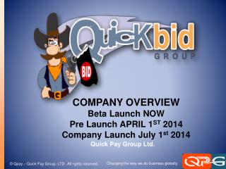 COMPANY OVERVIEW Beta Launch NOW Pre Launch APRIL 1 ST  2014 Company Launch July 1 st  2014