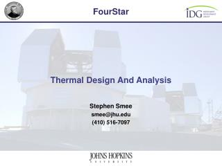 Thermal Design And Analysis