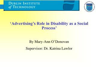 'Advertising's Role in Disability as a Social Process'