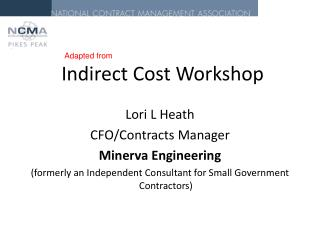 Indirect Cost Workshop