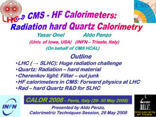 Outline LHC ( → SLHC): Huge radiation challenge Quartz: Radiation – hard material