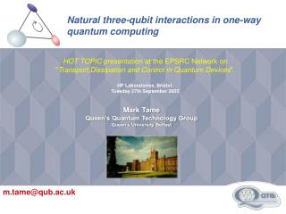 Natural three-qubit interactions in one-way quantum computing