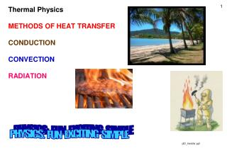 Thermal Physics METHODS OF HEAT TRANSFER CONDUCTION CONVECTION RADIATION