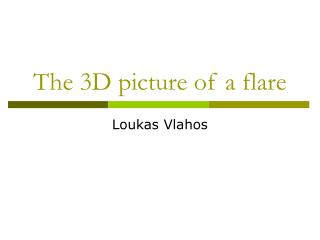 The 3D picture of a flare